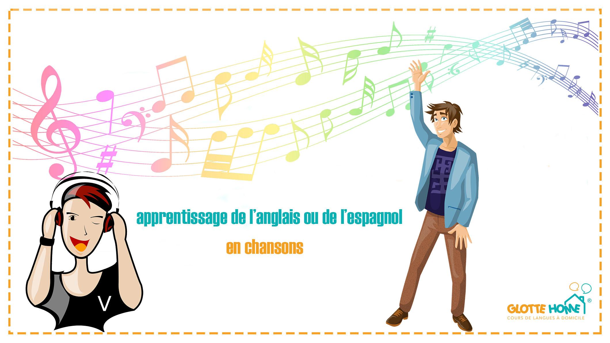 apprentissage de l'anglais ou de l'espagnol en chansons