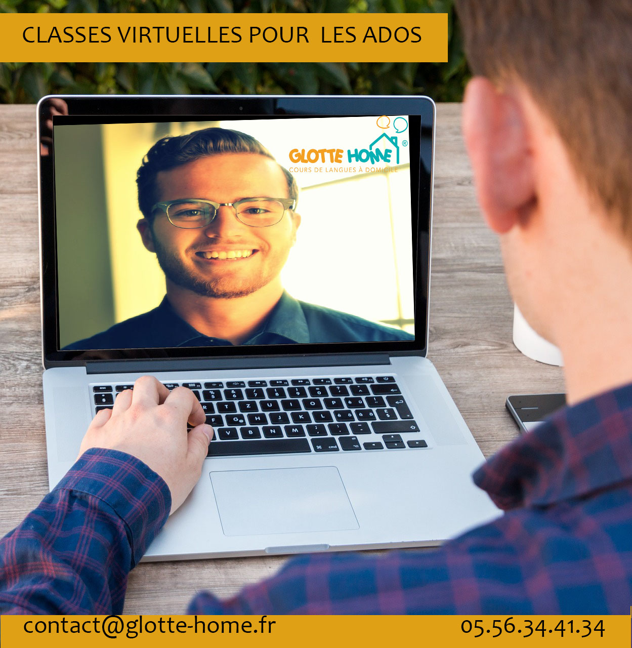 classes virtuelles d'anglais et espagnol